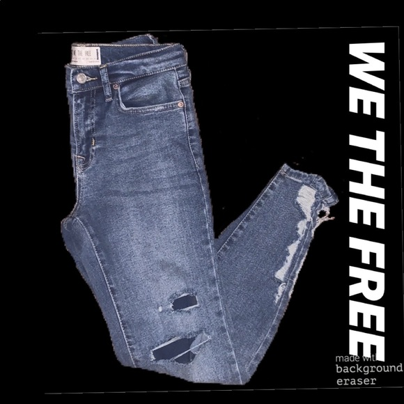 We The Free Denim - We The Free distressed skinny jeans